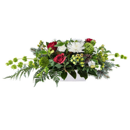 Deck the Halls.    Lovely Table Arrangement, suitable for your Christmas Dining Table