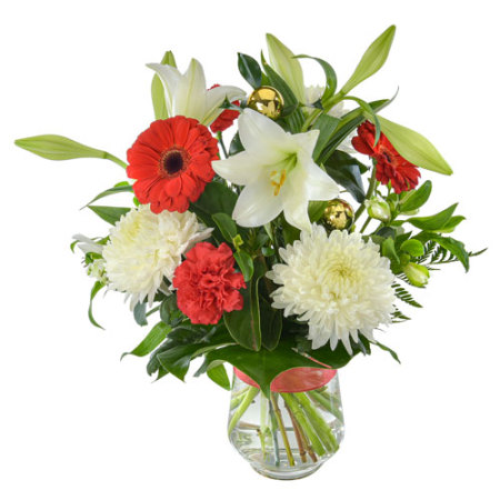 Grand Christmas.    Large Festive Arrangement in a Glass Vase