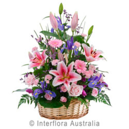 Beautiful Basket of Mixed Flowers