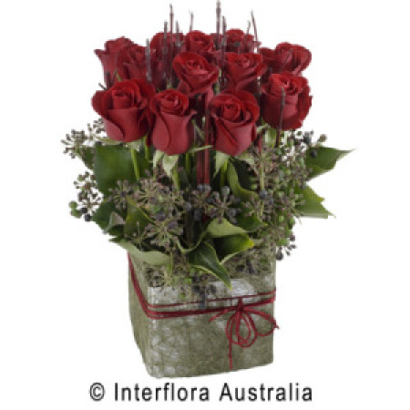 Forever - Box Arrangement of Beautiful Red Roses
