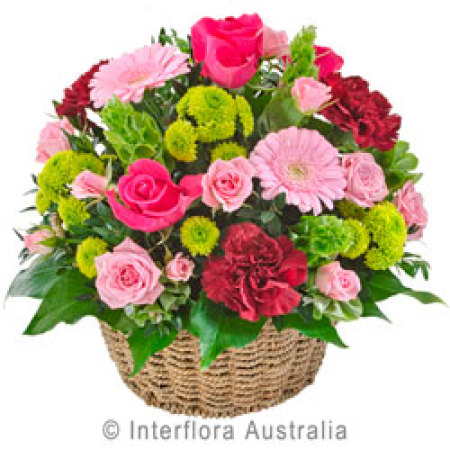 Flourish Basket of Mixed Blooms